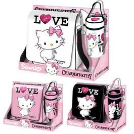 CHARMMY KITTY - PACK LOVE BANDOLERA + PORTATODO 3 COLORES SURTIDOS