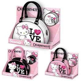 CHARMMY KITTY - PACK LOVE BOLSO + MONEDERO REDONDO 3 COLORES