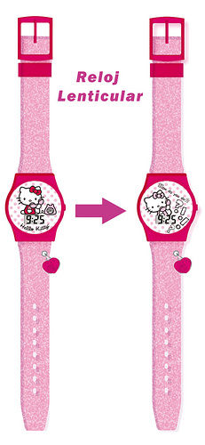 HELLO KITTY - RELOJ DE PULSERA DIGITAL LENTICULAR