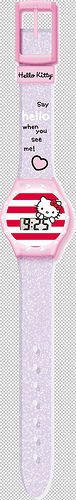 HELLO KITTY - RELOJ DE PULSERA DIGITAL DIAMANTE