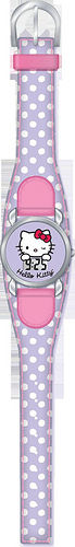 HELLO KITTY - RELOJ DE PULSERA DIGITAL CHROME PIEL LILA