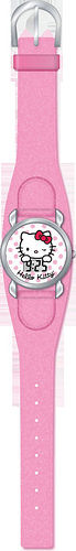 HELLO KITTY - RELOJ DE PULSERA DIG. CHROME PIEL ROSA