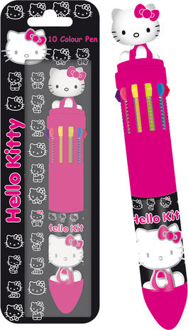 HELLO KITTY - BOLIGRAFO 10 COLORES
